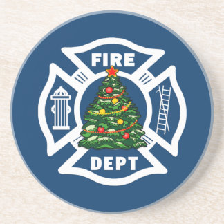 消防士のクリスマス コースター