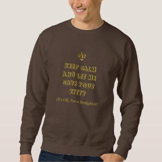 消防士のスエットシャツの暗闇チョコレート スウェットシャツ