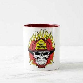 消防士のスカル ツートーンマグカップ
