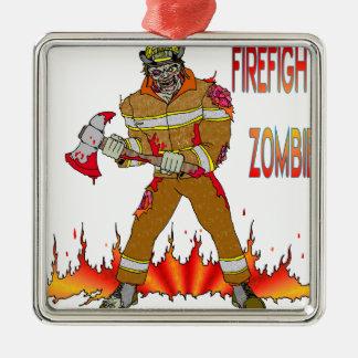 消防士のゾンビ メタルオーナメント