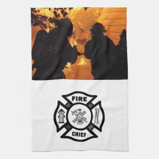 消防士のチーム キッチンタオル