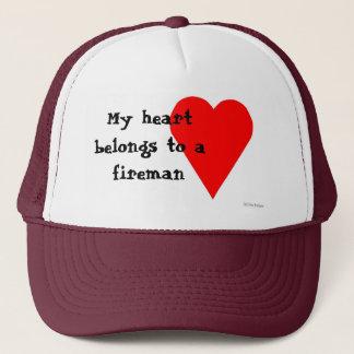 消防士のハートの帽子 キャップ