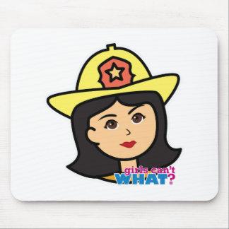 消防士のヘッド媒体 マウスパッド