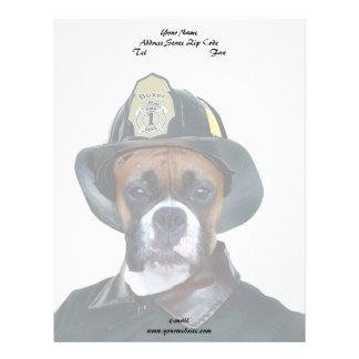 消防士のボクサー犬 レターヘッド