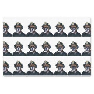 消防士のボクサー犬 薄葉紙