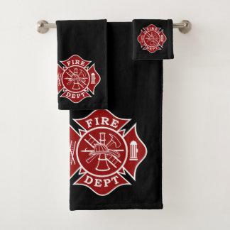 消防士のマルタ十字が付いている浴室タオルセット バスタオルセット
