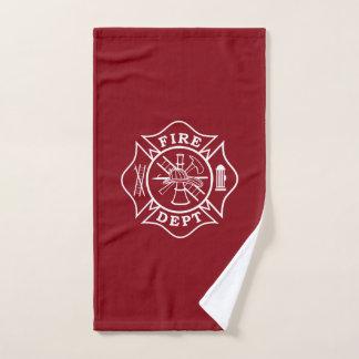 消防士のマルタ十字の体育館タオル ハンドタオル