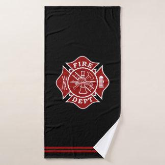 消防士のマルタ十字のBathタオル バスタオル