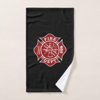 消防士のマルタ十字手タオル ハンドタオル