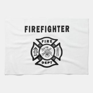 消防士のロゴ キッチンタオル