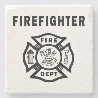 消防士のロゴ ストーンコースター
