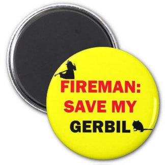 消防士の保存私のスナネズミ マグネット