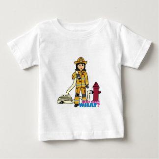 消防士の女の子-ブルネット ベビーTシャツ