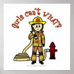 消防士の女の子 ポスター