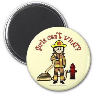 消防士の女の子 マグネット