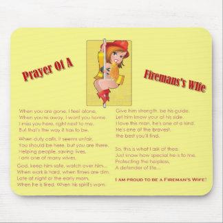 """""""消防士の妻の祈りの言葉""""のマウスパッド マウスパッド"""