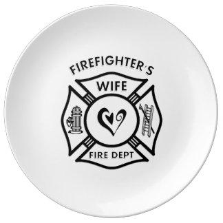 消防士の妻 磁器プレート
