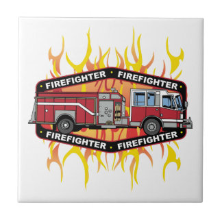 消防士の普通消防車 タイル