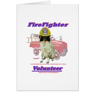 消防士の有志の女性 カード