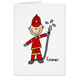 消防士の棒の姿カード カード