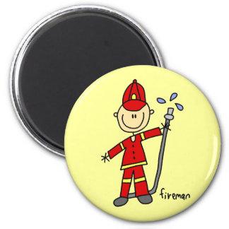 消防士の棒の姿 マグネット