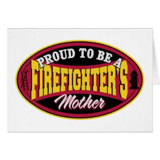 消防士の母があること誇りを持った カード