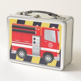 消防士の消防車の金属のお弁当箱 メタルランチボックス