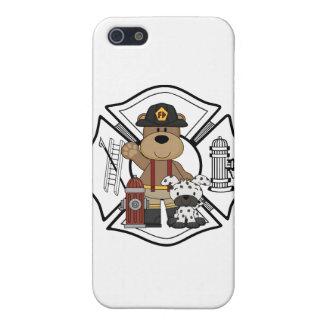 消防士の火Deptくま iPhone 5 ケース