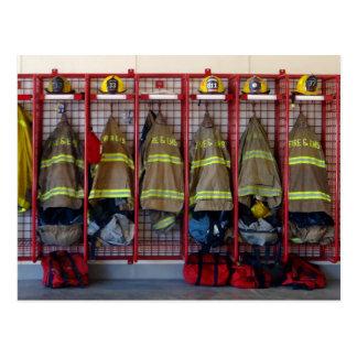 消防士の生産高 ポストカード
