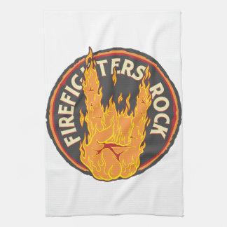 消防士の石! キッチンタオル