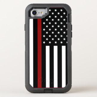 消防士の薄い赤線オッターボックスのiPhone 7の場合 オッターボックスディフェンダーiPhone 8/7 ケース