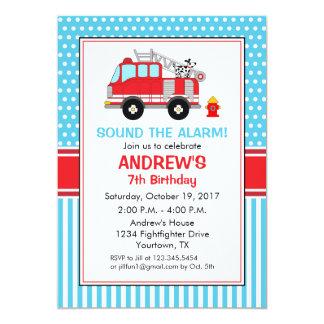 消防士の誕生日の招待状 カード