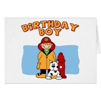 消防士の誕生日の男の子 カード