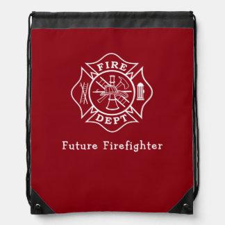 消防士のMatleseの十字のドローストリングのバックパック ナップサック