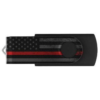 消防士は動揺してな米国旗のスタイルを作りました USBフラッシュドライブ