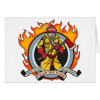 消防士は火を恐れていません カード