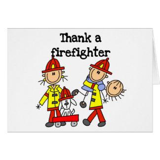 消防士カードを感謝していして下さい カード