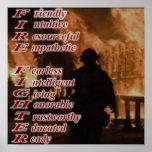 消防士ポスターの意味 ポスター