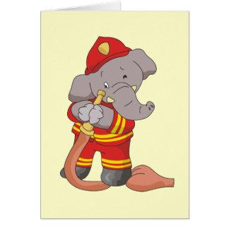 消防士象のTシャツおよびギフト カード