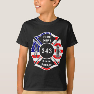 消防士9/11は決して343を忘れません Tシャツ