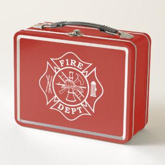 消防士/火Deptのマルタ十字のお弁当箱 メタルランチボックス