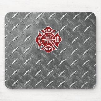消防士/火Deptのマルタ十字のマウスパッド マウスパッド