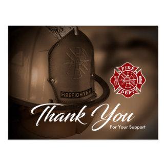 消防士/火Deptは郵便はがき感謝していしています ポストカード