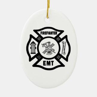 消防士EMT セラミックオーナメント