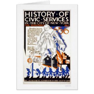 消防署のバケツNYC 1936 WPA カード