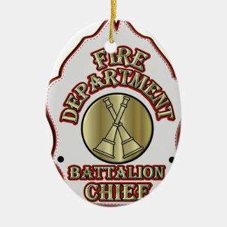 消防署の大隊の主な盾のデザイン セラミックオーナメント