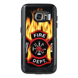 消防署の燃えるようなバッジ オッターボックスSamsung GALAXY S7ケース
