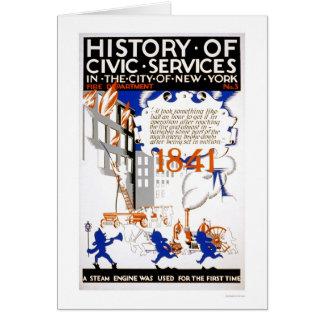 消防署の蒸気NYC 1936 WPA カード