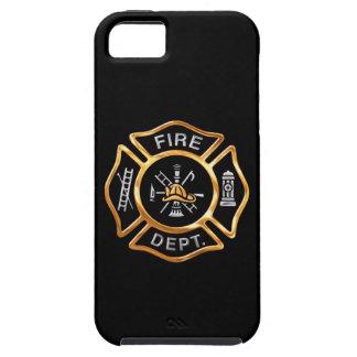 消防署の金ゴールドのバッジ iPhone SE/5/5s ケース