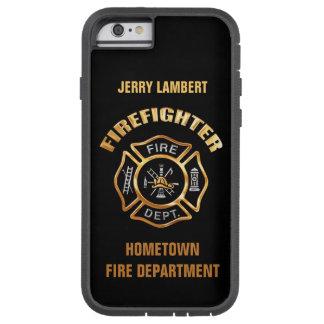 消防署の金ゴールドの名前のテンプレート iPhone 6 タフ・エクストリームケース
